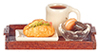 AZG7134 - Tray/Coffee/Pastries/Sand