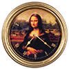 AZG7190 - Mona Lisa Clock