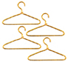 AZG7245 - Gold Wire Hangers, 4pc