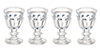 AZG7274 - Crystal Glasses Set, 4pc