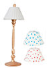 AZG7278 - High Gold Lamp with 3 Shades