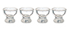 AZG7320 - Small Clear Egg Cups Set, 4pc