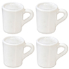 AZG7323 - Small White Mugs Set, 4pc