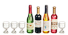 AZG7363 - 4 Wine Bottles/4 Glasses