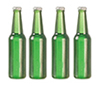 AZG7395 - Beer Bottles Set/4/Green