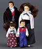 AZG7600 - Victorian Doll Family, 4Pc, Brown