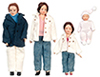 AZG7629 - Porcelain Doll Family/4