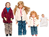 AZG7634 - Modern Doll Family Set 4