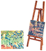 AZG7924 - Easel with 2 Canvas Paintings