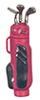 AZG8032R - Golf Bag with 3 Clubs/Red