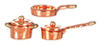 AZG8168 - 1/2In Copper Casserole Set/5