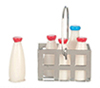 AZG8269 - Milk Bottles In Basket