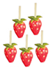 AZG8400 - Strawberries/5 Pcs