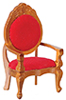 AZG9114 - Mirrorback Armchair, Red