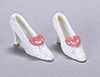 AZGS4009A - White Mini Shoe with Pink