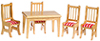 AZM0329 - Kitchen Table & Chairs 5Pc Oak