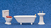 AZM0349W - Bath Set 3/Pc, White/Cs