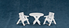 AZM0356 - Outdoor Table + Chairs, 3Pc/Cb