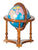 AZM0690XO - .Globe with Stand, Walnut