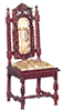 AZP3001 - Charles Ii Side Chair, Mahogany