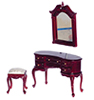AZP3084 - Q.A. Dress. Table, Mirror, Bench