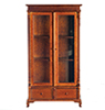AZP6074 - Bookcase Cabinet, Walnut