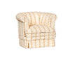 AZP6318 - Chair, Tan Stripe/Walnut
