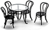 AZS8507 - Patio Table with 4 Chairs, Black