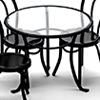AZS8509 - Patio Table, Black