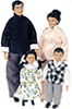 AZSD0056 - Asian Family, Set Of 4