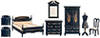 AZT0121 - Bedroom Set, 8Pc, Black