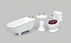 AZT0513 - Bath Set, 3Pc, White/Cs