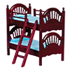 AZT3038 - Spindle Bunk Bed, Mahogany