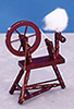 AZT3170 - .Spinning Wheel, Mahogany