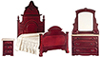 AZT3198 - Bedroom Set, 3/Pc, Mahogany/Cb
