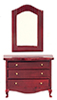 AZT3202 - Low Dresser with Mirror, Mahogany