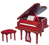 AZT3213 - Grand Piano with Bench, Mahogany, Cb