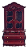 AZT3231 - .Fancy Victorian Display Cabinet, Mahogany