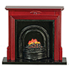 AZT3242 - Fireplace with Insert, Mahogany