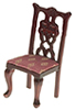 AZT3281 - .Side Chair, Mahogany/Rose