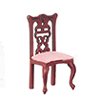 AZT3285 - Side Chair, Salmon/Mahogany