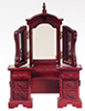 AZT3385 - Vanity with Mirror, Mahogany