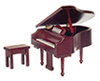 AZT3495 - Piano with Bench, Mahogany, Cb