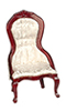 AZT3812W - Victorian Lady's Chair, White