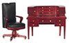 AZT3924 - Desk & Chair Set/2/Mahogany/Cs