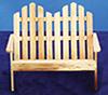 AZT4215 - Adirondack Double Chair, Oak