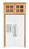 AZT4734 - White Refrigerator with Oak Cabinet