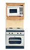 AZT4741 - Oven with Microwave, Oak