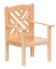 AZT4941 - Garden Chair, Oak, Cb