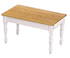AZT5048 - Kitchen Table, Oak/White/Cb